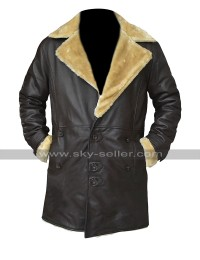 Trevor Jackson SuperFly Youngblood Priest Fur Shearling Brown Leather Jacket