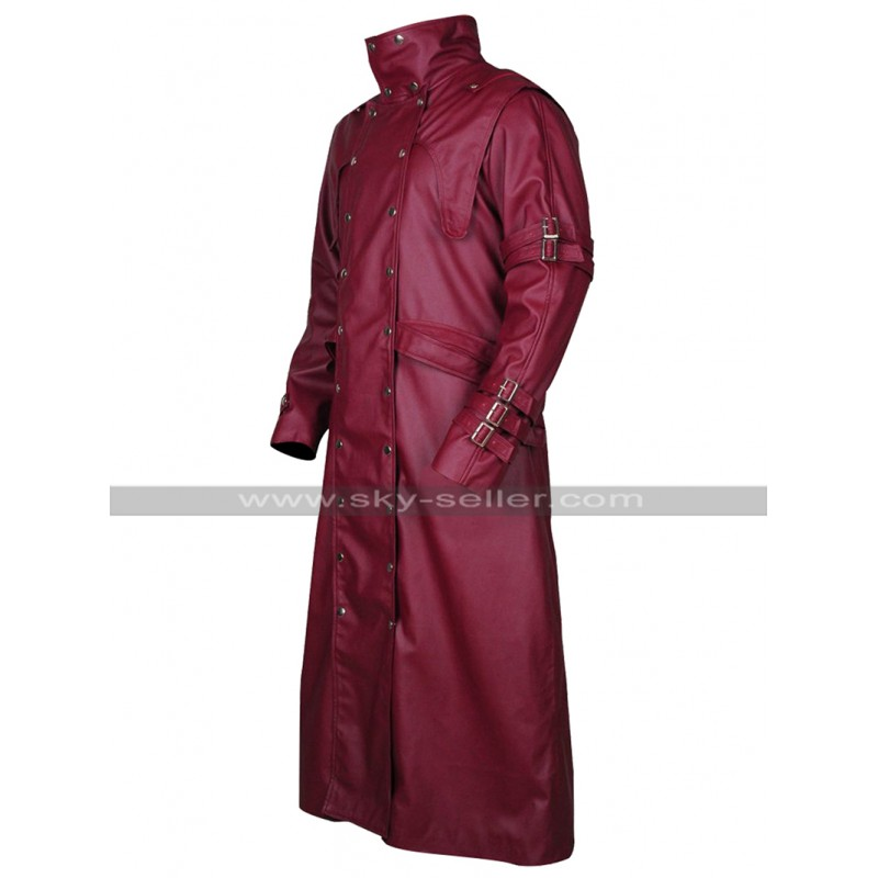 Trigun Badlands Rumble Vash The Stampede Costume Maroon Leather