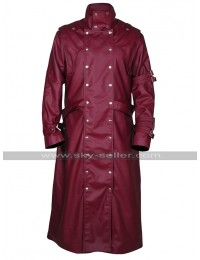 Trigun Badlands Rumble Vash The Stampede Costume Maroon Leather Trench Coat