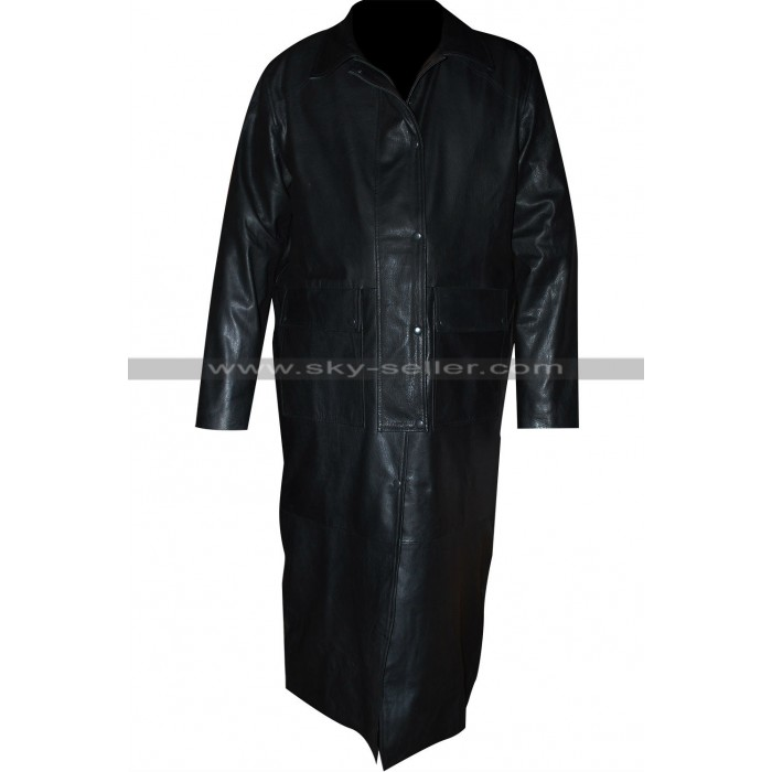 Wrestler Sting (Steve Borden) Black Leather Trench Coat
