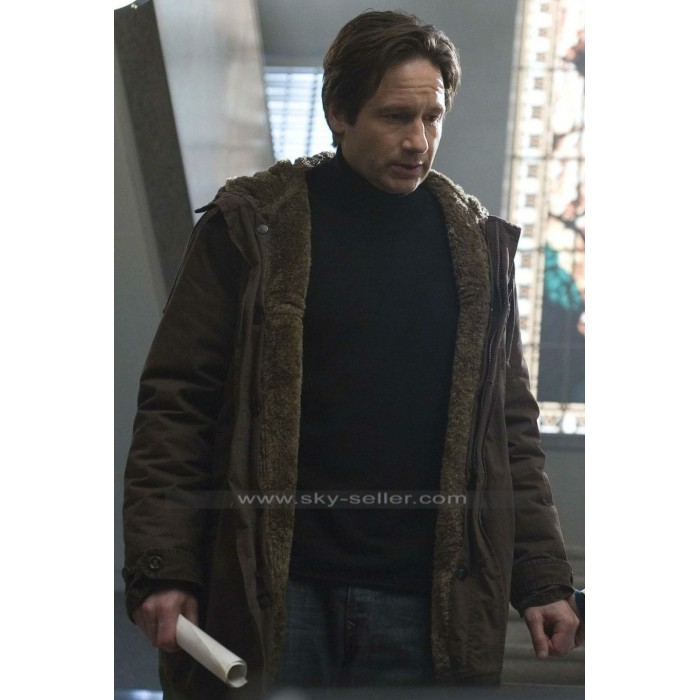 The X-Files David Duchovny (Fox Mulder) Fur Coat