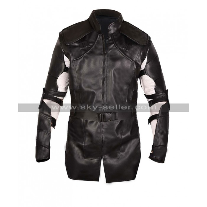 Hawkeye Avengers Endgame Costume Jeremy Renner Black Leather Jacket