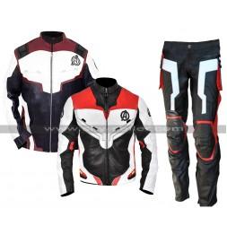 Mens Avengers Endgame Costume Quantum Realm Leather Jacket / Pants