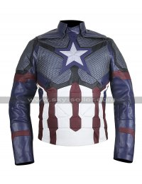 Captain America Avengers Endgame Steve Chris Evans Cosplay Costume Leather Jacket