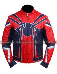 Avengers Infinity War Spiderman Costume Leather Jacket