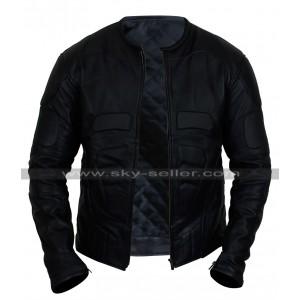 Batman Begins Bruce Wayne Batsuit Leather Jacket