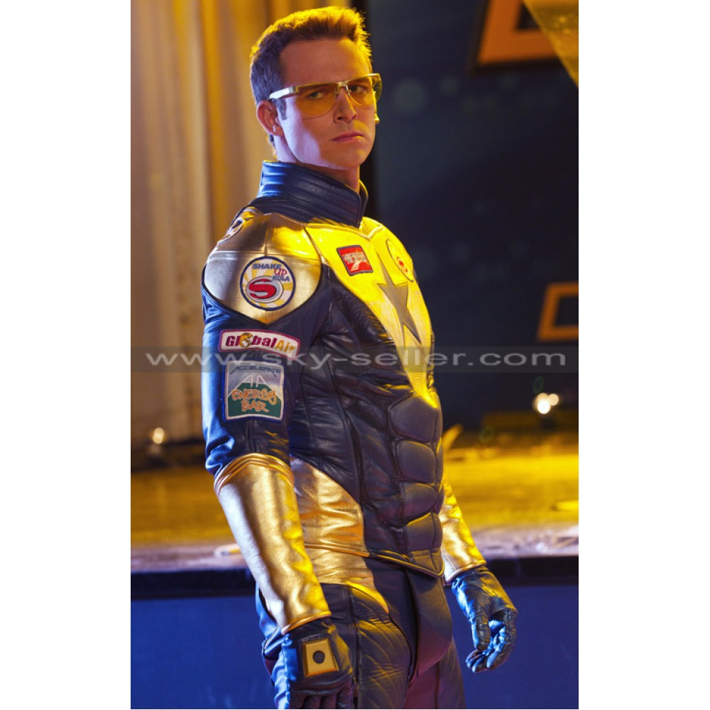 Booster Gold Eric Martsolf Leather Costume Jacket