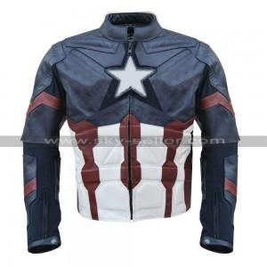 Captain America Chris Evans Civil War Leather Costume Jacket