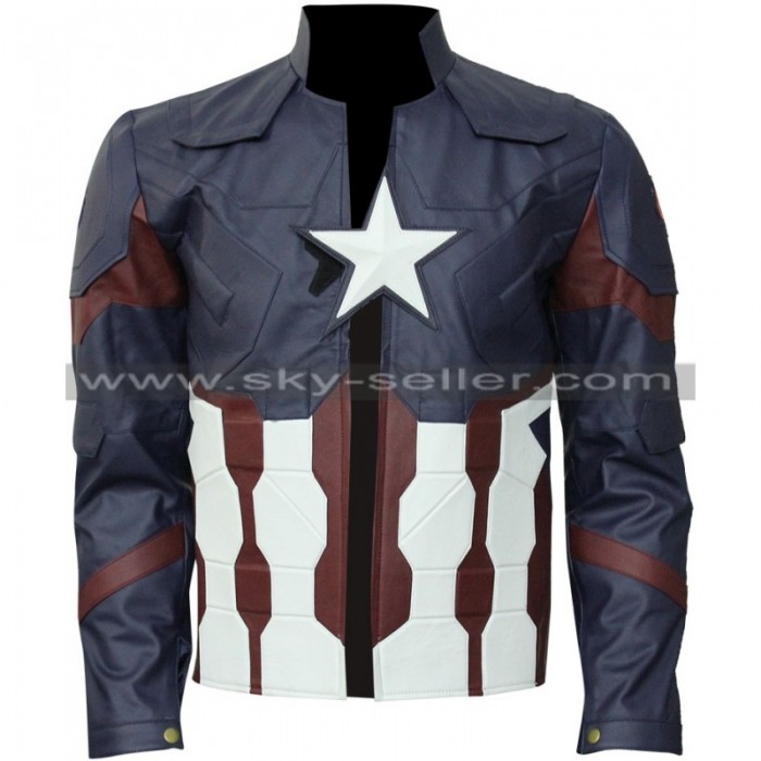 Captain America Chris Evans Civil War Leather Costume Jacket