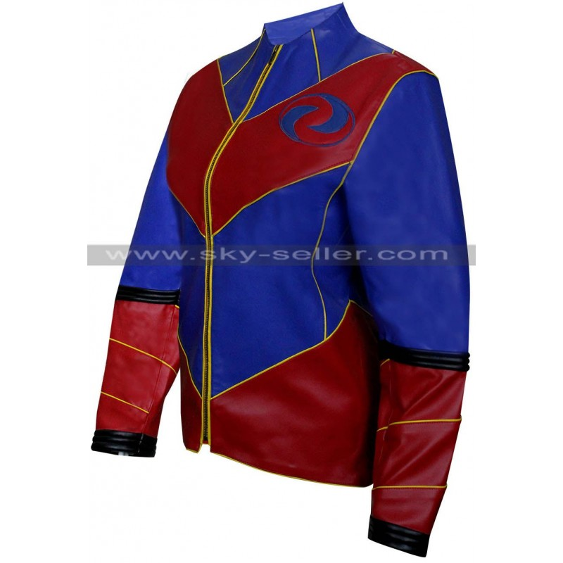 Ray Manchester Captain Man Costume Leather Jacket