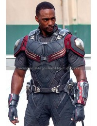 Civil War Anthony Mackie (Sam Wilson) Costume Jacket