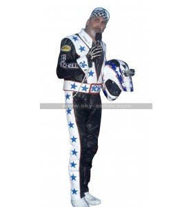 Robbie Knievel Daredevil Black Biker Leather Costume Jacket / Pants