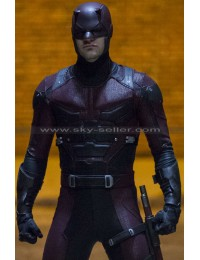 Daredevil S2 Charlie Cox Red Leather Jacket
