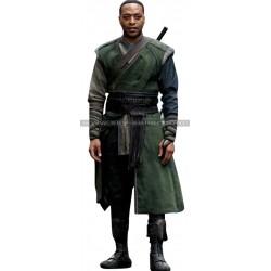 Chiwetel Ejiofor Doctor Strange Baron Mordo Green Hooded Costume