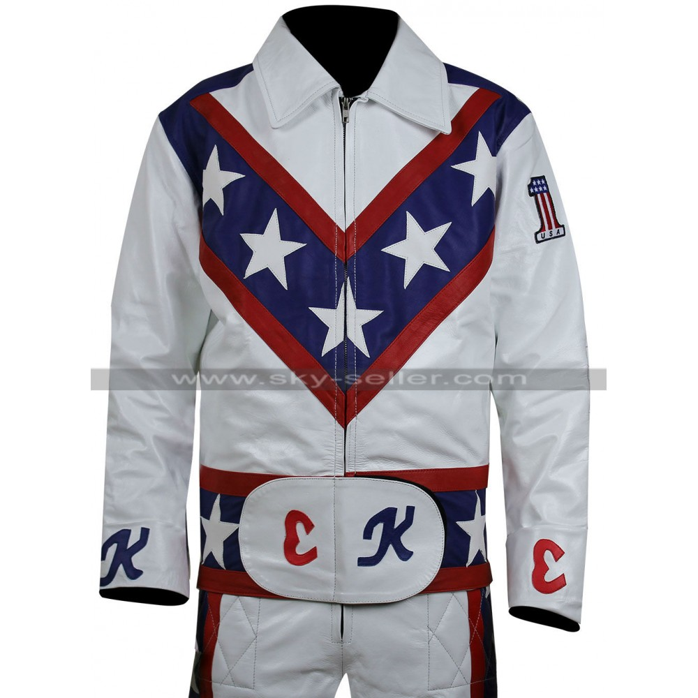 Evel Knievel Daredevil White Biker Leather Costume