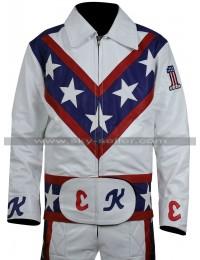 Evel Knievel Daredevil White Biker Leather Costume