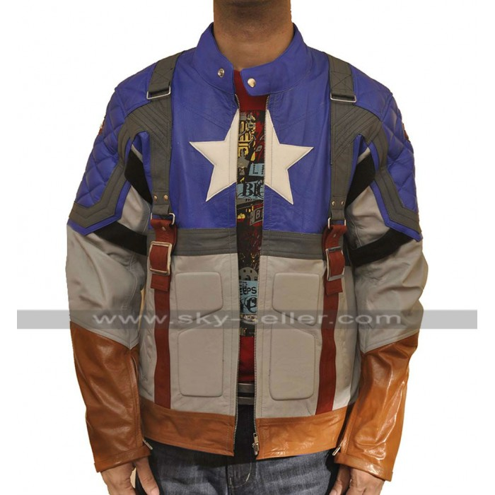 First Avenger Chris Evans Costume Leather Jacket