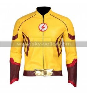 The Flash Keiynan Lonsdale (Kid Flash) Yellow Faux Leather Costume Jacket