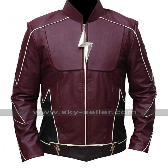 The Flash Jay Garrick (John Wesley Shipp) Maroon Costume Leather Jacket