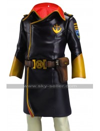 Space Battleship Yamato Captain Juzo Okita Black Costume Leather Jacket