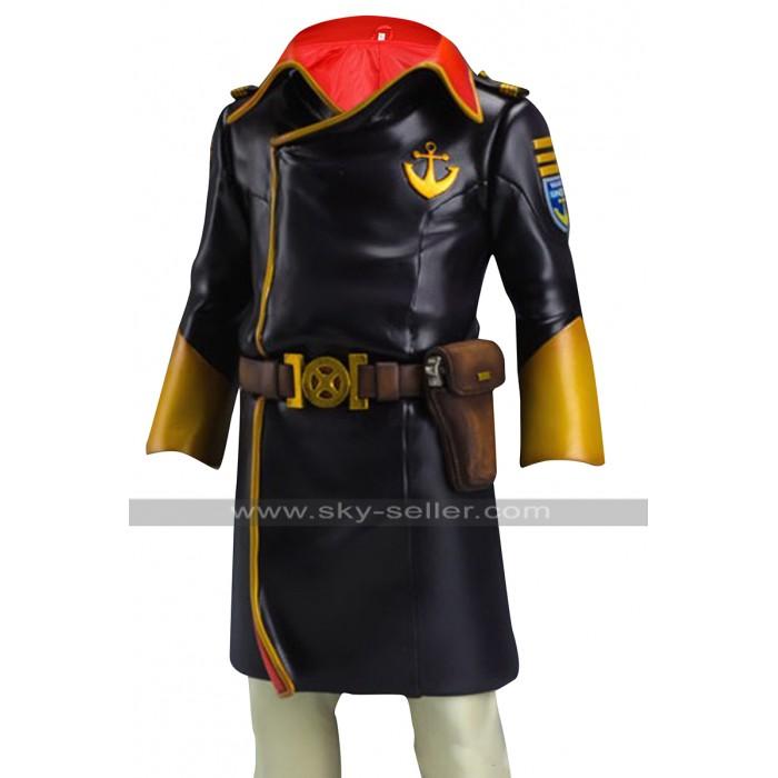 Space Battleship Yamato Captain Juzo Okita Black Costume Leather Jacket