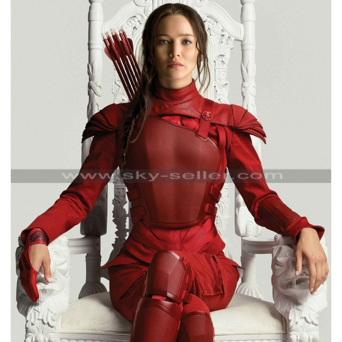 Mockingjay Part 2 Hunger Games Red Leather Costume