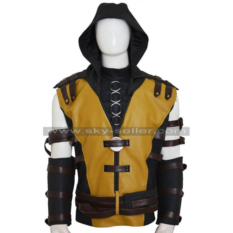 Mortal Kombat X Scorpion Hanzo Hasashi Costume Vest