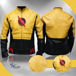 The Reverse Flash Yellow Lightning Costume Jacket