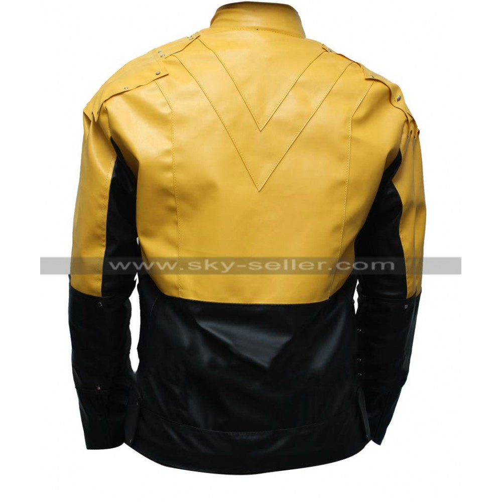 Lighting Jacket: The Reverse Flash Yellow Lightning Costume Jacket