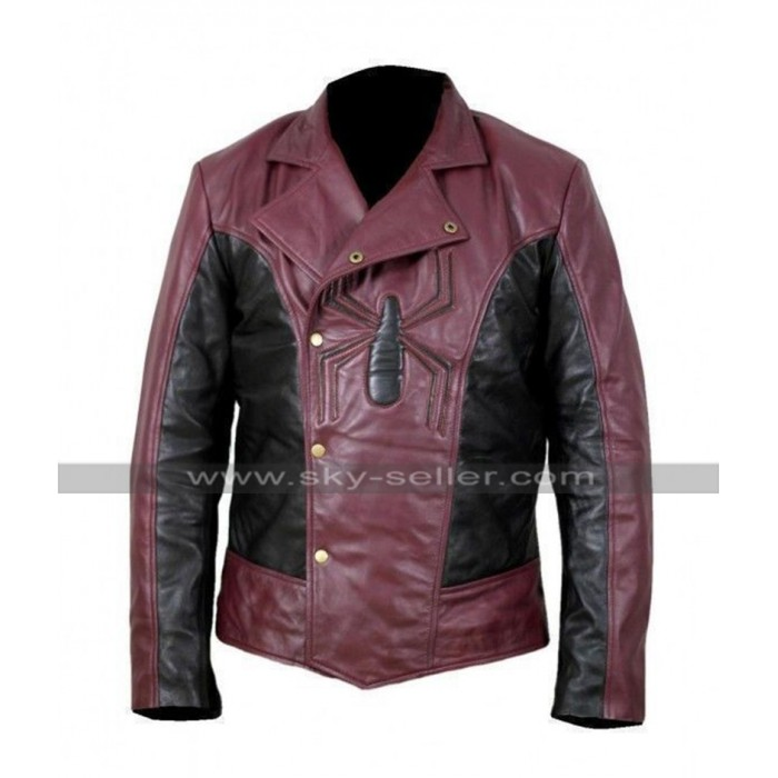 Last Stand Spiderman Costume Peter Parker Biker Leather Jacket