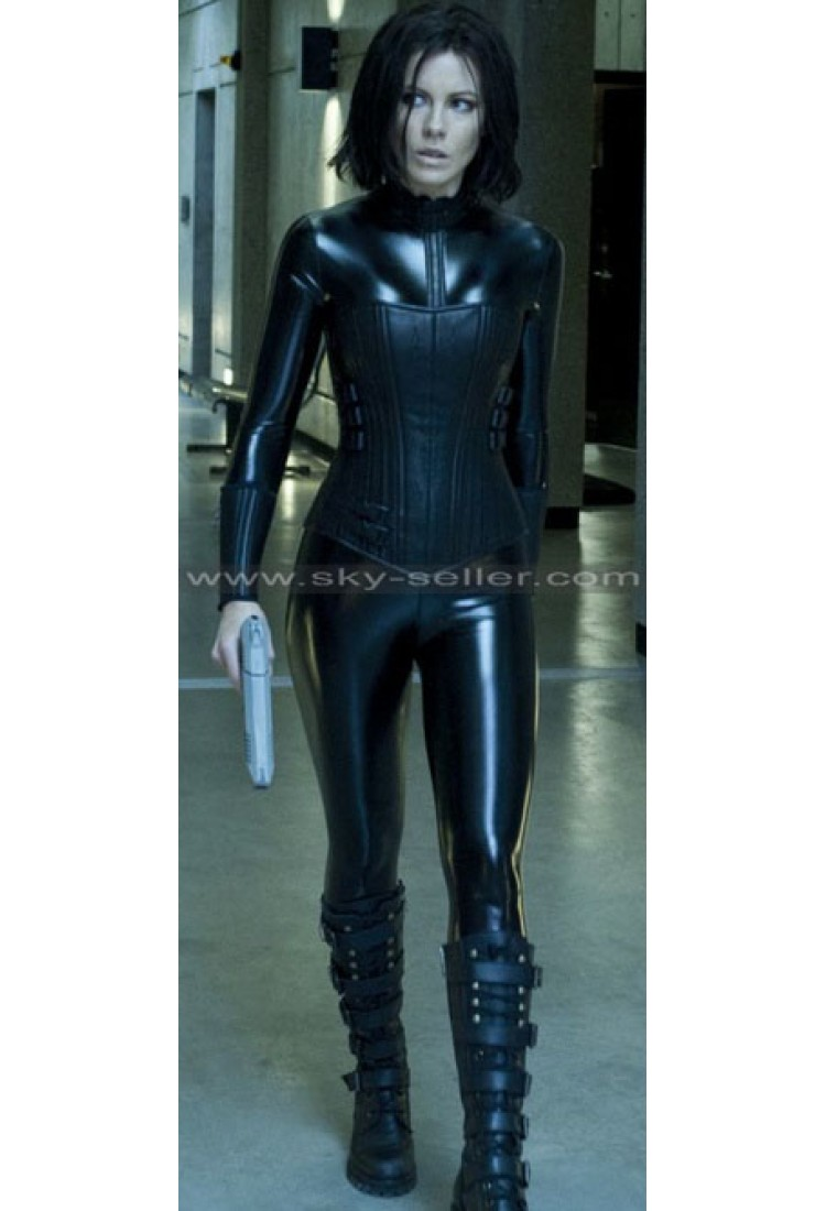Kate Beckinsale Leather Suit