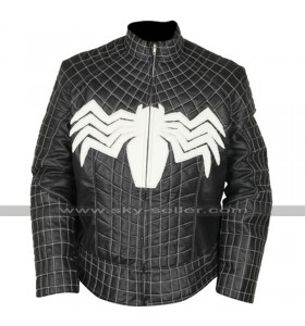 Venom Tom Hardy (Eddie Brock) Costume Black Leather Jacket