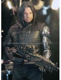 Winter Soldier Civil War Bucky Barnes Costume Leather Jacket