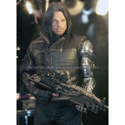 Winter Soldier Civil War Costume Leather Jacket