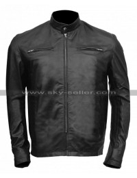 Aaron Taylor Godzilla Lt Ford Black Leather Jacket