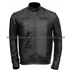 Aaron Taylor Godzilla Lt Ford Black Leather Jacket