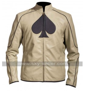 Ace Card Symbol Inspiration Leather Jacket