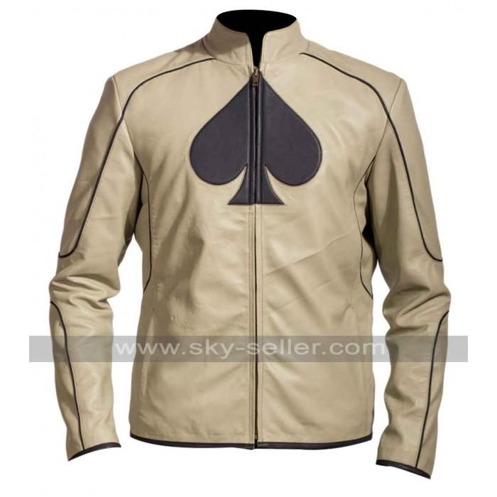 Ace Card Symbol Inspiration Leather Jacket