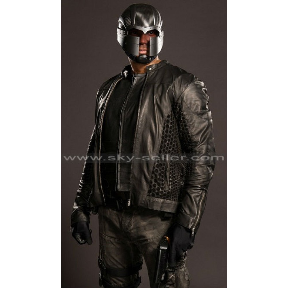 Arrow S4 John Diggle (David Ramsey) Leather Costume