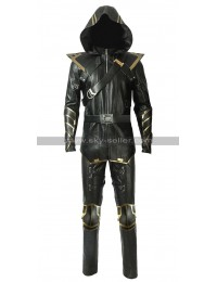 Avengers Endgame Ronin Costume Black Leather Hooded Jacket / Pants