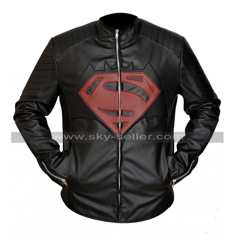 v Superman Black Leather Jacket