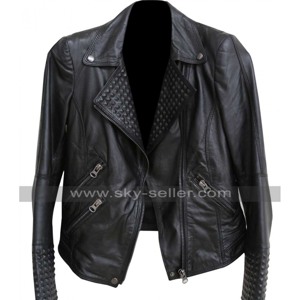 how to put spikes on leather jacket