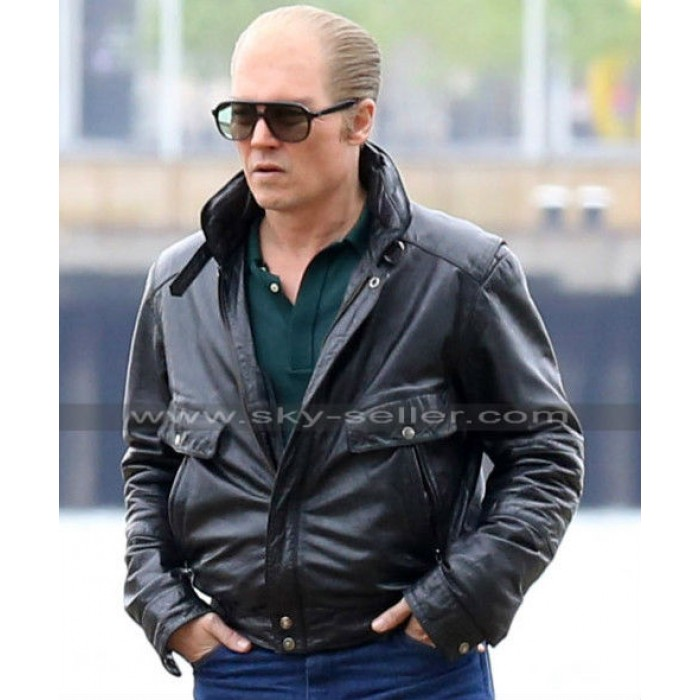 Black Mass Johnny Depp (Whitey Bulger) Black Jacket