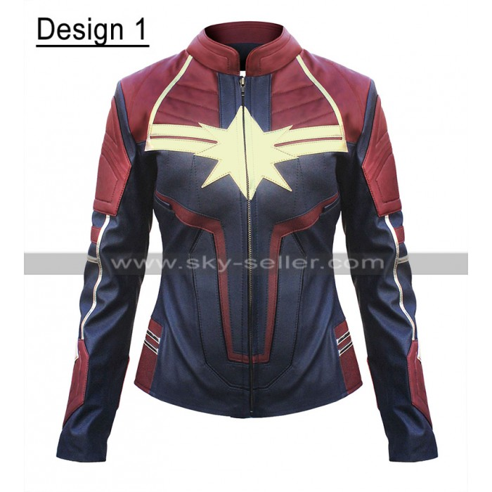 Carol Danvers Captain Marvel Costume Brie Larson Leather Jacket