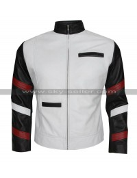 Bruce Lee Vintage Classic White Leather Jacket