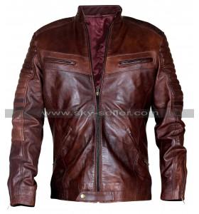 Cafe Racer Brown Biker Vintage Distressed Men's Leather Jacket