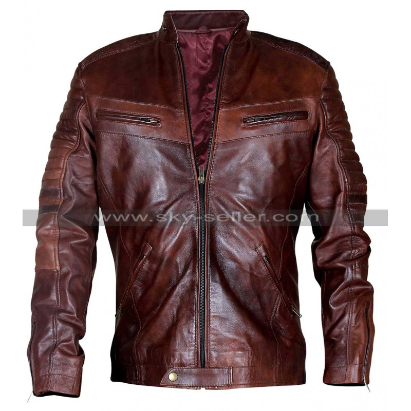 Brown vintage leather jacket 10