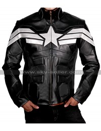 Captain America Avengers Endgame Chris Evans Steve Costume Black Leather Jacket