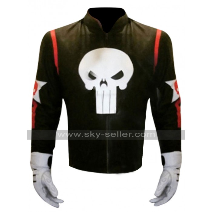 Captain America Civil War Punisher Leather Jacket