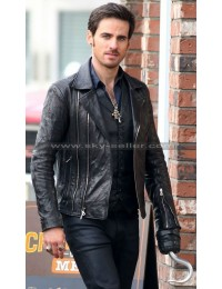 Colin O'Donoghue Once Upon Time S5 Black Leather Jacket
